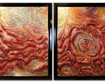 60x96 текстурированная абстрактная живопись современный оригинальный Огромные 5 футов х 8 футов Холст Акриловая изобразительного искусства Федерико Farias.