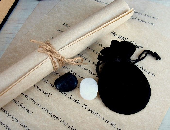 Alchemist's Urim and Thummim Stones/Spiritual Healing Stones/Perfect Soul and Body Gift by Gemstoneplace on Etsy