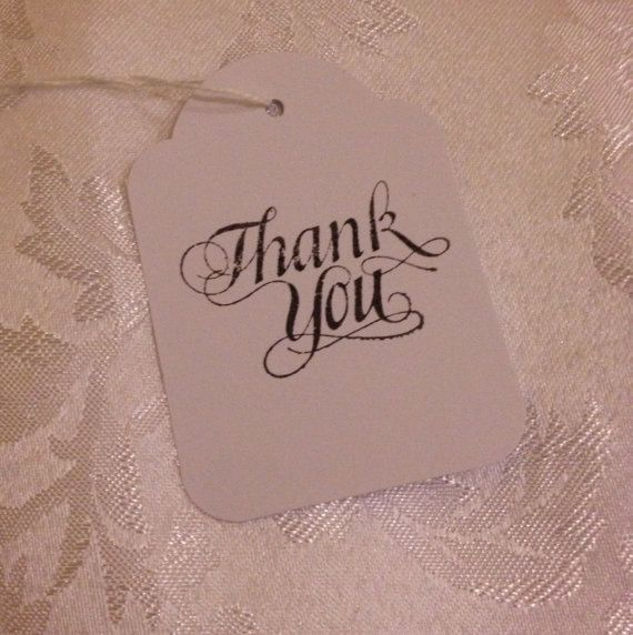 Hand Stamped Thank You Tags  Wedding or Event by TypeWright