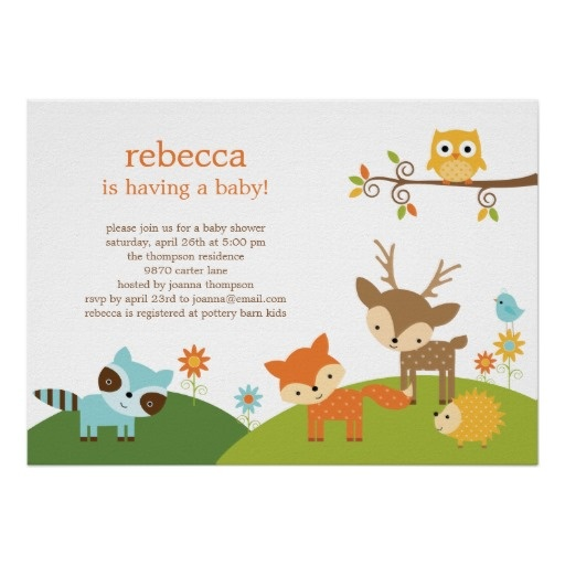 forest friends baby shower invitation decorative sugar cookies pi