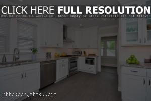 desain ruang dapur minimalis modern yang cantik Kabinet Putih Untuk Desain Ruang Dapur Minimalis Modern Charming White Cabinets
