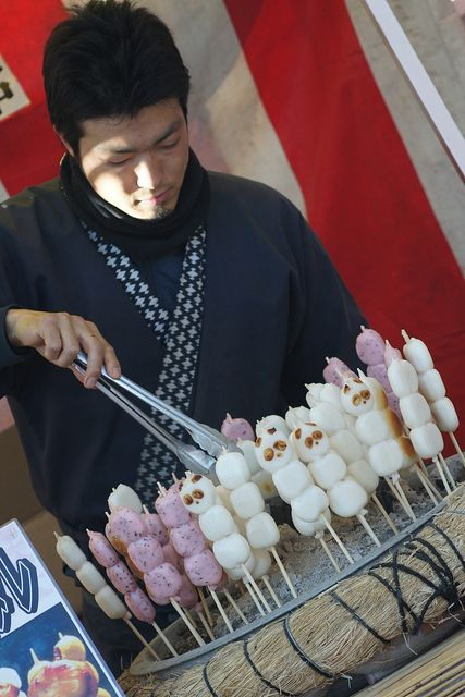 Japan. Dango is a Japanese dumpling and sweet made from mochiko, related to mochi.