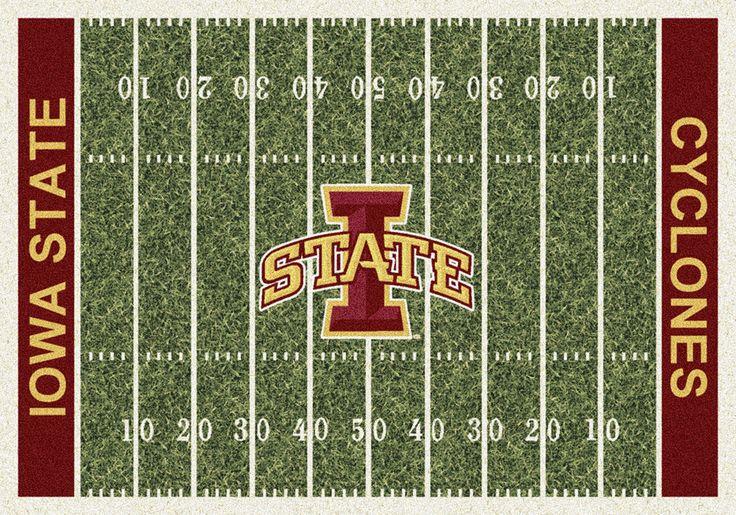 Iowa State Rug University Football Field