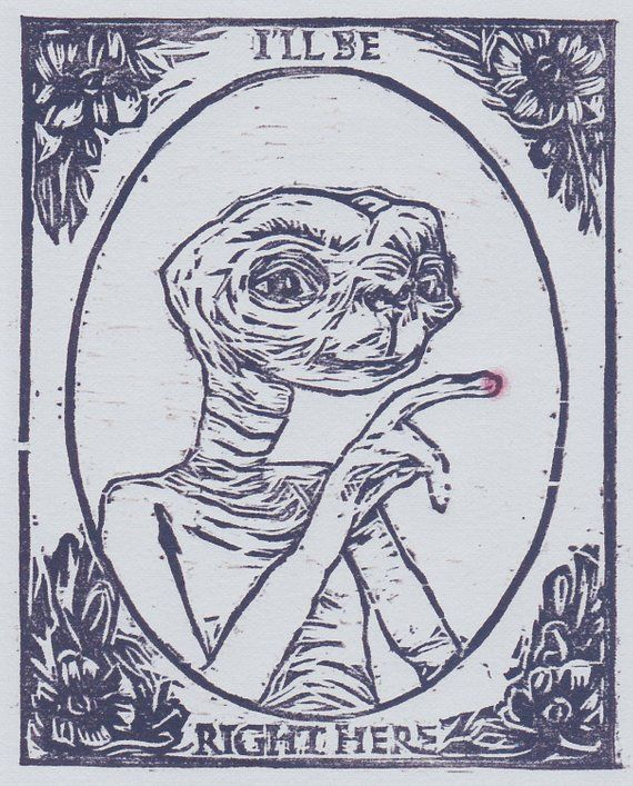 Quote Wall Art Movie the Extra-Terrestrial illustration ART PRINT E.T