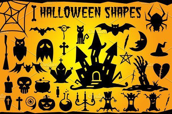 Halloween Vector Shapes Set by pixaroma on @creativemarket