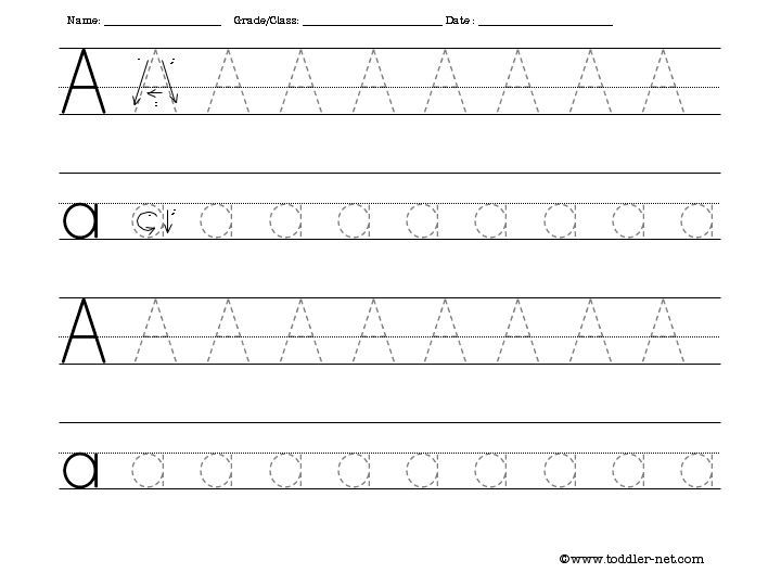 letter a tracing sheet free activity sheets for letters numbers shapes and 17670 | e4d16775516d05f1b336400c3b5ed46e