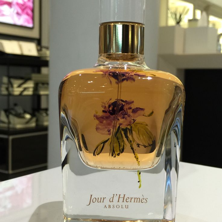 A stem of purple rose was painted on Jour d' Hermes