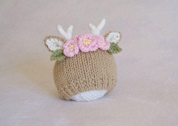 Cervi fiore corona bambino cappello fulvo con di HisforHARPER