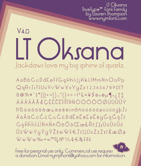 LT Oksana Font | dafont.com