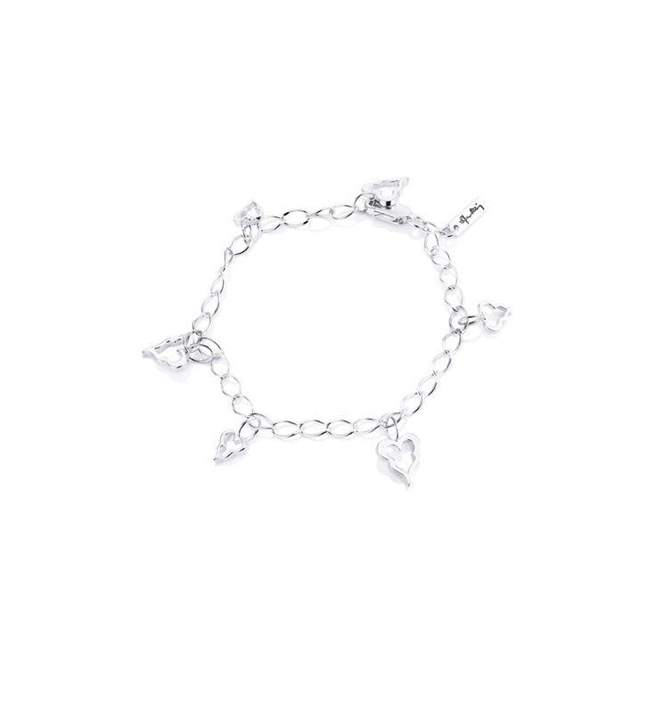 Crazy Heart Bracelet - Silver - Armband - Efva Attling
