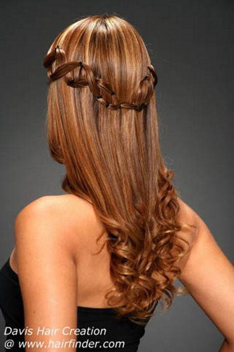 peinados con trenzas y pelo suelto y flequillo paso a paso ...