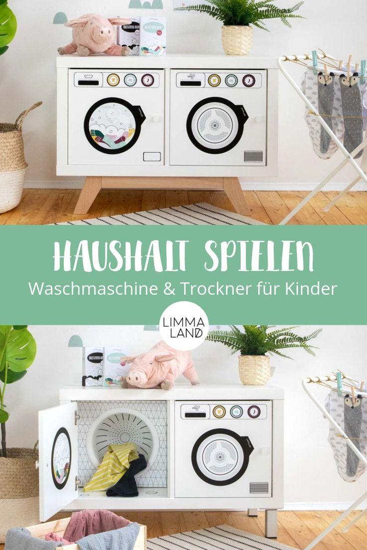 Klebefolie Waschmaschine und Trockner SAUBAFIX für IKEA KALLAX, EKET und Billy