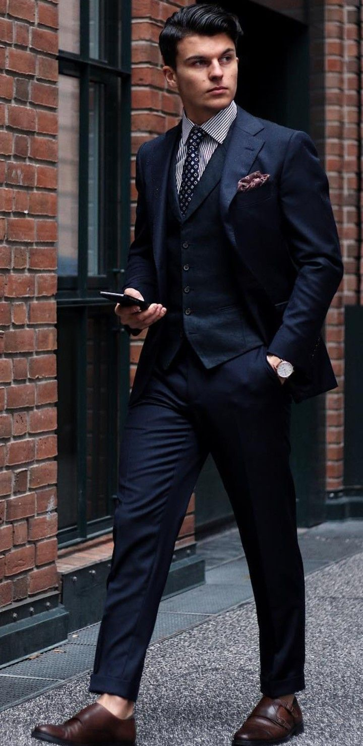 Pin By Montrelldemet On Men In Blue Suits Blue Suit Outfit Blue