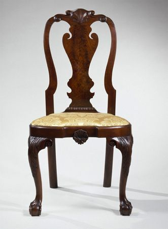 Important Queen Anne Carved Walnut Compass Seat Side Chair  Philadelphia   circa 1755. 427 best Historical Furniture images on Pinterest   Antique
