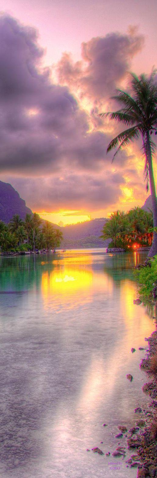 ✯ Sunset at St. Regis - Bora Bora. Bora Bora  #travel #BoraBora