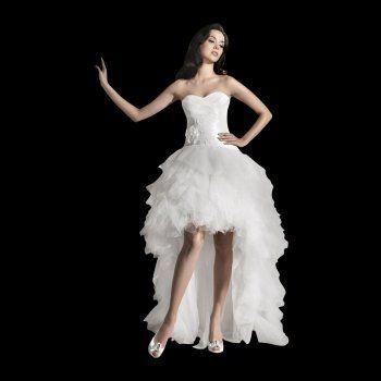 Funky Short at front long at back wedding dress Freya