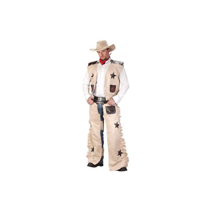 Halloween Men's Cowboy Costume, Tan