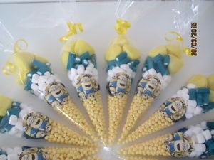 minion party sweet cones...the perfect alternative to a party bag.