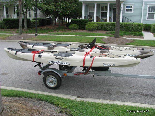 Kayak trailer homemade 83crappiehunter pinterest for Harbor freight fishing cart