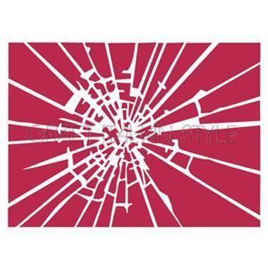 Stencil D 20x15 cm Textura vidrio roto