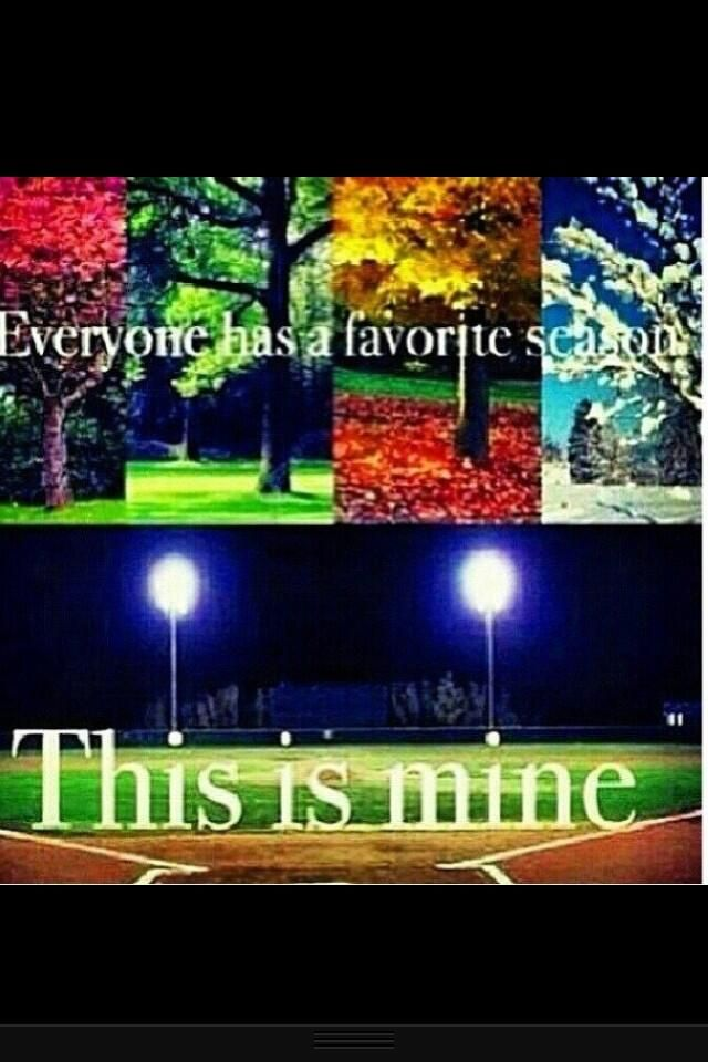 Baseball Season is my favorite season <3
