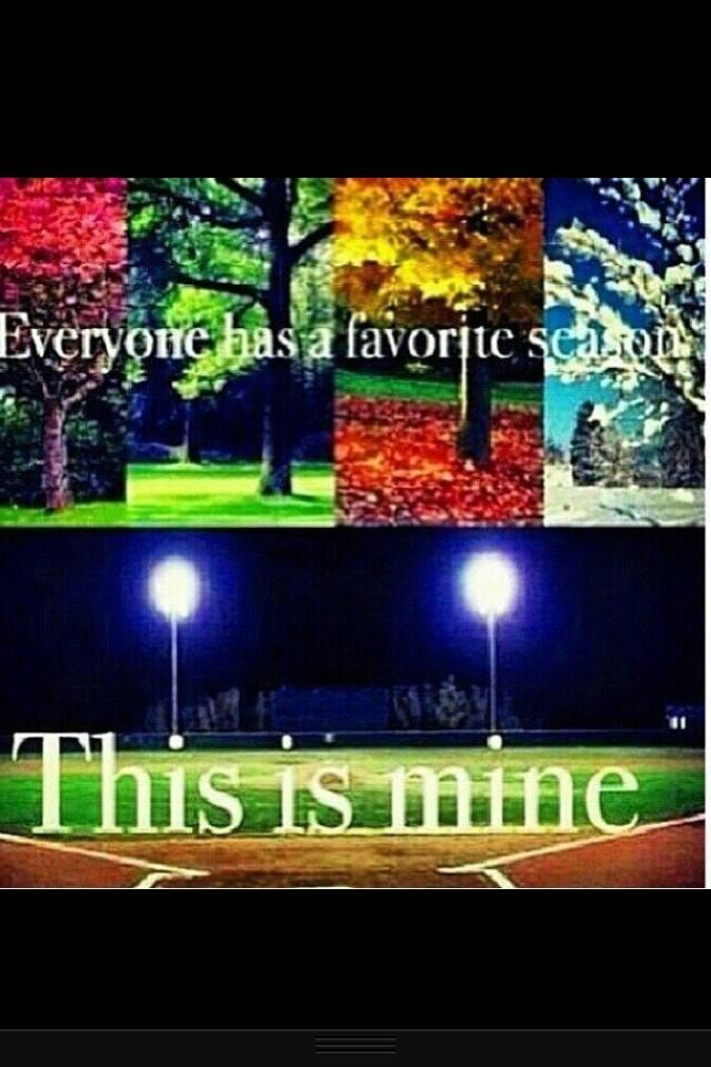 Baseball Season is my favorite season <3