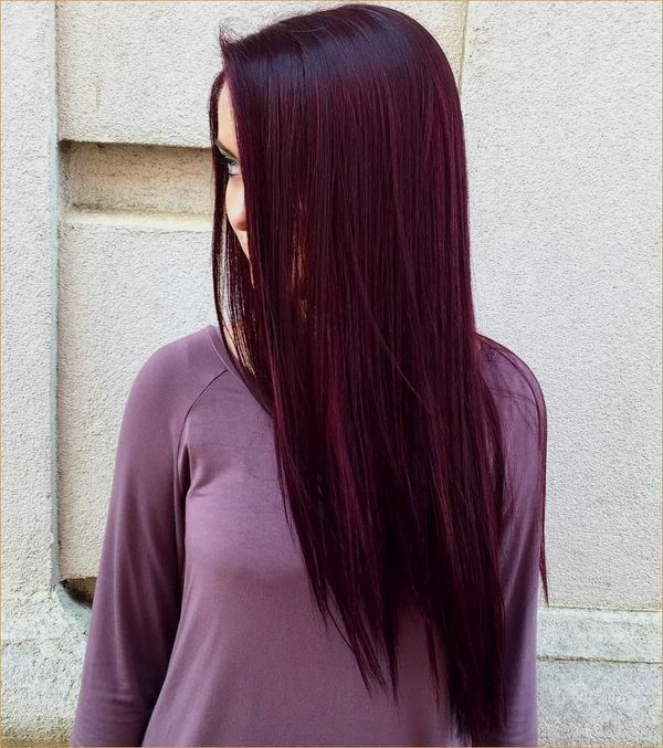 Burgunder Haarfarbe Ideen Die Besten Frisuren Fur Kastanienbraunes Haar April 2019 Hairco Rengarenk Sac Koyu Renk Sac Balyaj Sac
