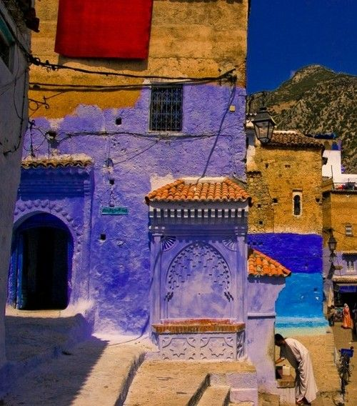 ChefchaouenMorocco, also known as the Blue City, is a small charming town located near to the Mediterranean Sea.