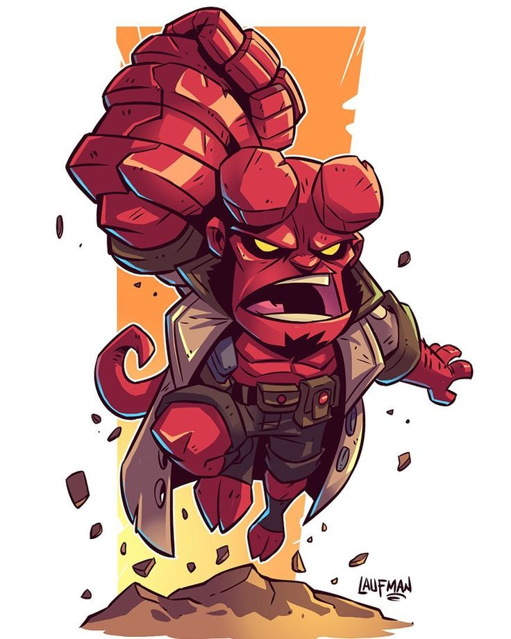 I was a fan of the last Hellboy movies despite their flaws but the prospect of this new reboot has me really excited. I'm totally down for a grittier Hellboy that pays homage to the comics. Can't wait to see how it turns out! #hellboy #chibi #fanart #dereklaufman