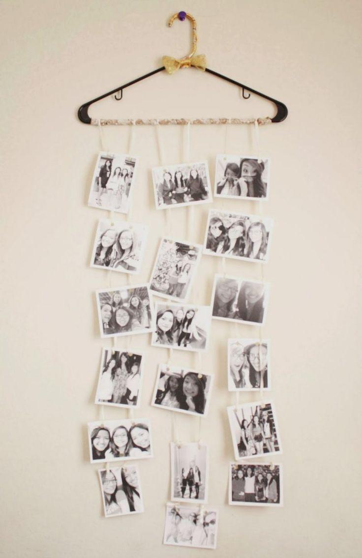 Fotocollage selber machen Kleiderbügel