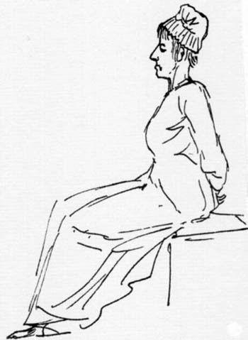 Maria Antonietta, David, schizzo a penna, 1793
