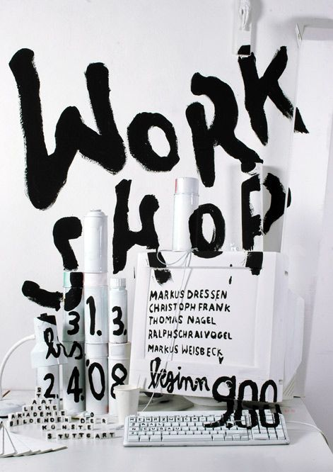 Women of Graphic Design - Katja Schloz (Stuttgart) 2008 Workshop Poster,...