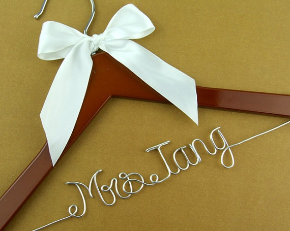 One line Wire Name Wedding Hanger, Personalized Bridal Brides Hanger, Bride Name Hanger, Personalized Bridal Gift on Etsy, $5.99