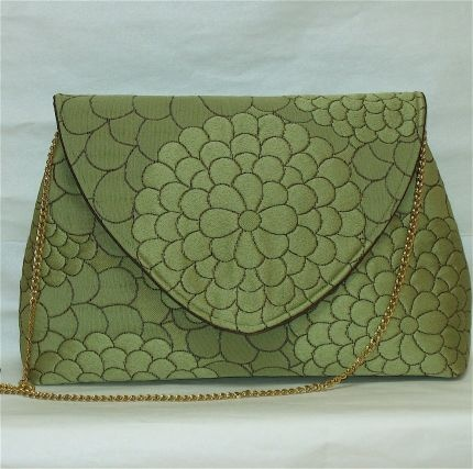 Green Clutch Bag - Threads