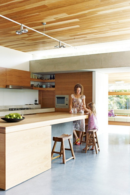clean-lined cabinetry