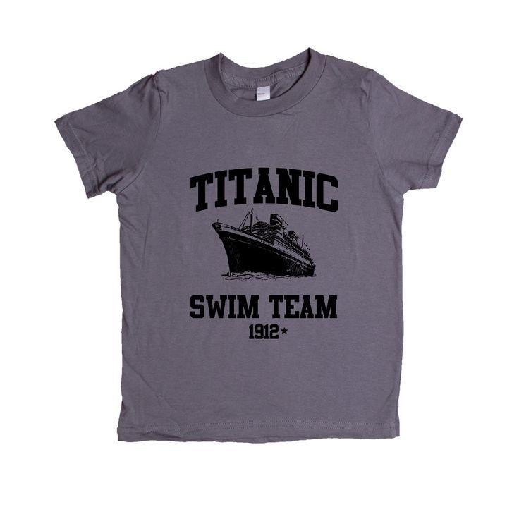 Titanic Swim Team 1912 Joke Dark Humor Ship Sinking Too Soon Movie Reference Swimming Joking Funny SGAL1 Unisex Kid's Shirt