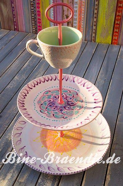 Dekoherz: Noch mehr bunte Keramik von Bine Brändle