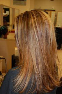 Lorin Van Zandt. Hair Artist.: Blond highlights with red lowlights
