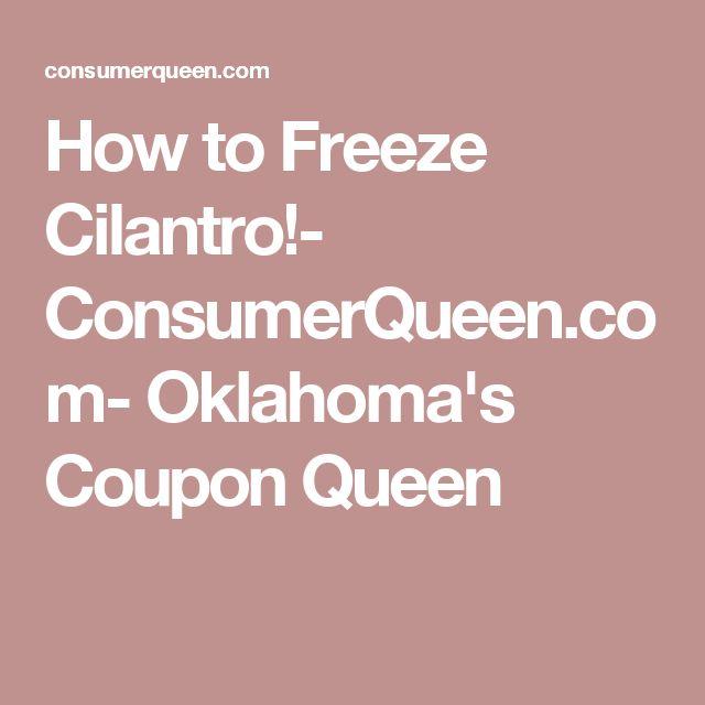 How to Freeze Cilantro!- ConsumerQueen.com- Oklahoma's Coupon Queen