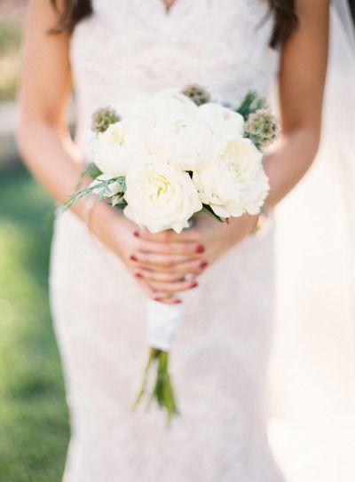White bouquet: http://www.stylemepretty.com/2014/12/25/happy-holidays-intimate-christmas-wedding/ | Photography: Josh Elliot - http://joshelliottstudios.com/