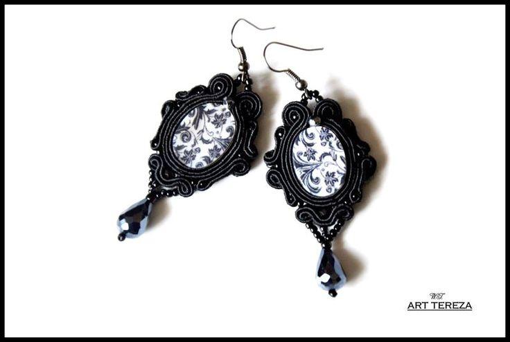 kolczyki sutasz gothic masa perłowa w ART TEREZA na DaWanda.com