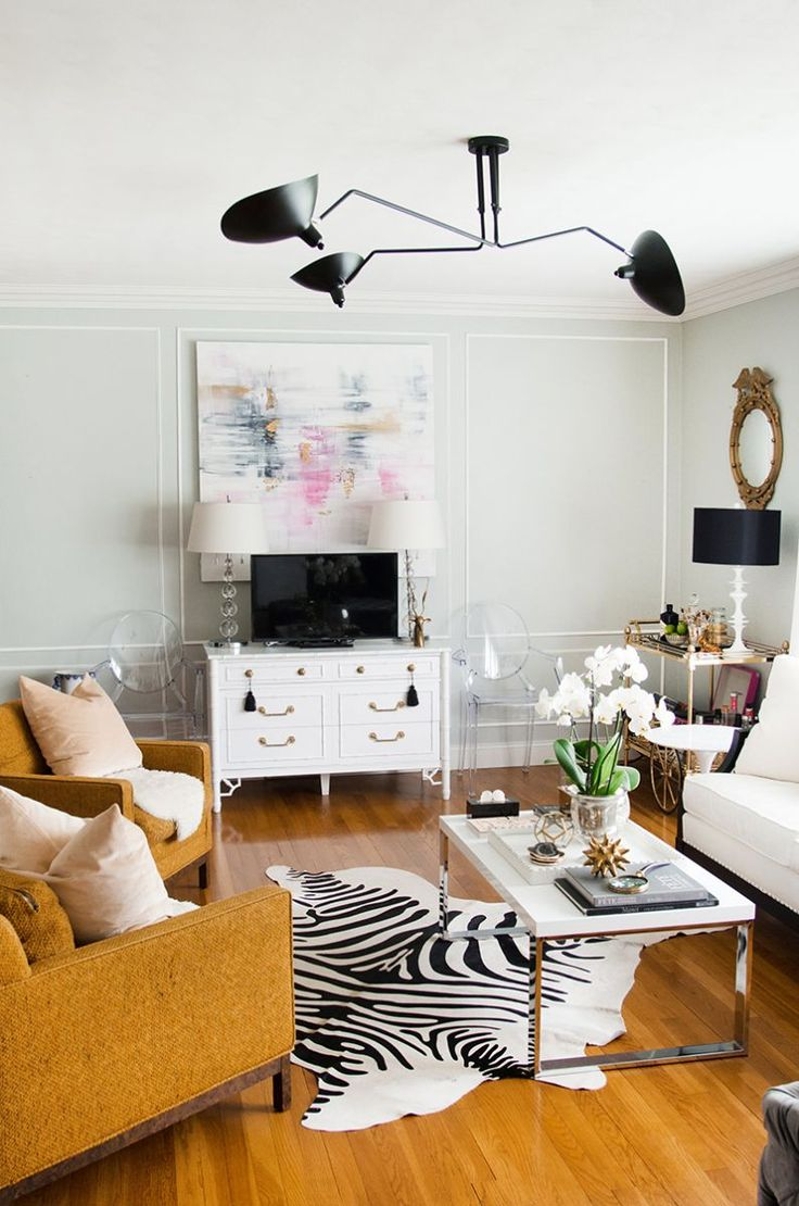 Living spaces living rooms dark furniture living room glam living room - An Interior Stylist S Glam Midwest Remodel Theeverygirl White Living Roomsliving Spacesinterior