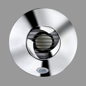 Airflow Icon 15 Bathroom Extractor Fan Polished Chrome