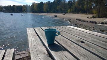 Matinkylän uimaranta Espoo,coffee break.