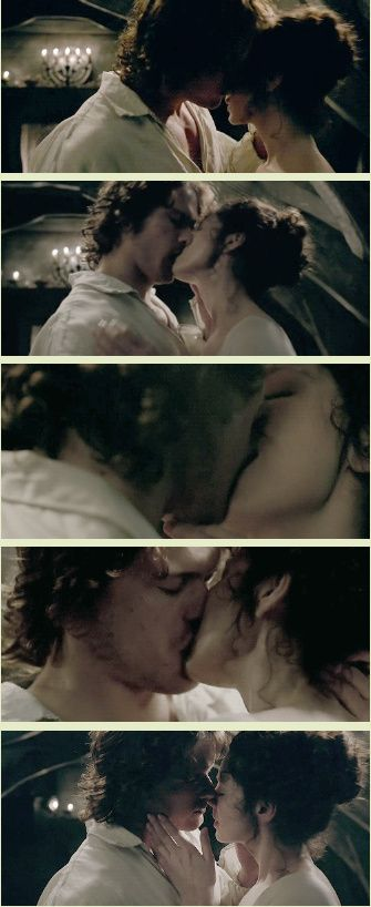 [GIFSET] Jamie and Claire 1x07 The Wedding (click through for gifset and larger view!)