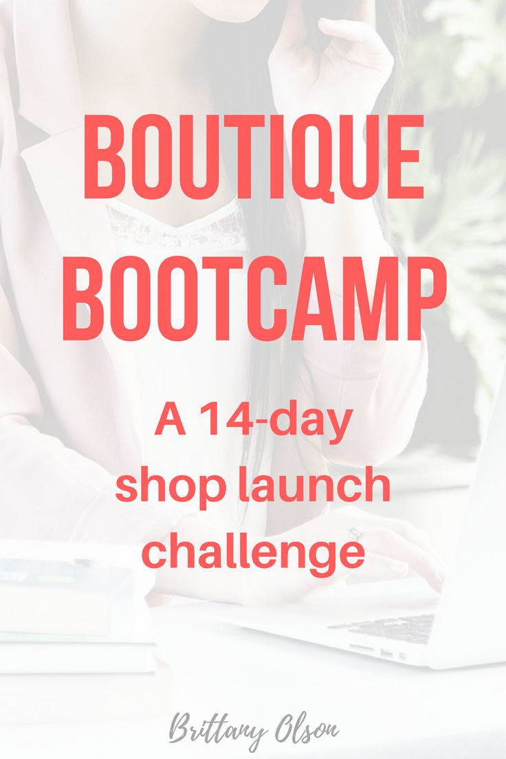 Boutique Bootcamp is a 14-day shop launch challenge  Each day you will  receive a new challenge in your inbox     Some of the tasks are difficult - no one said boot camp would be easy!  If you don't complete each task on time, don't worry - you will have  lifetime access to the challenge when you login to our school  Click here for more info about the boutique bootcamp challenge