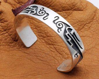 Hopi Sterling Silver Bracelet Featuring Parrot Design