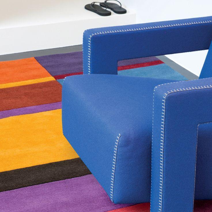 Tapis en laine par Ligne Pure, magnifique tapis haut de gamme multicolore vif et lumineux, aux motifs géométriques  #tapis #coloré #multicolore #déco