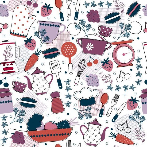 Download Abstract Kitcken Pattern For Free Kitchen Wallpaper Design Baking Wallpaper Wallpaper