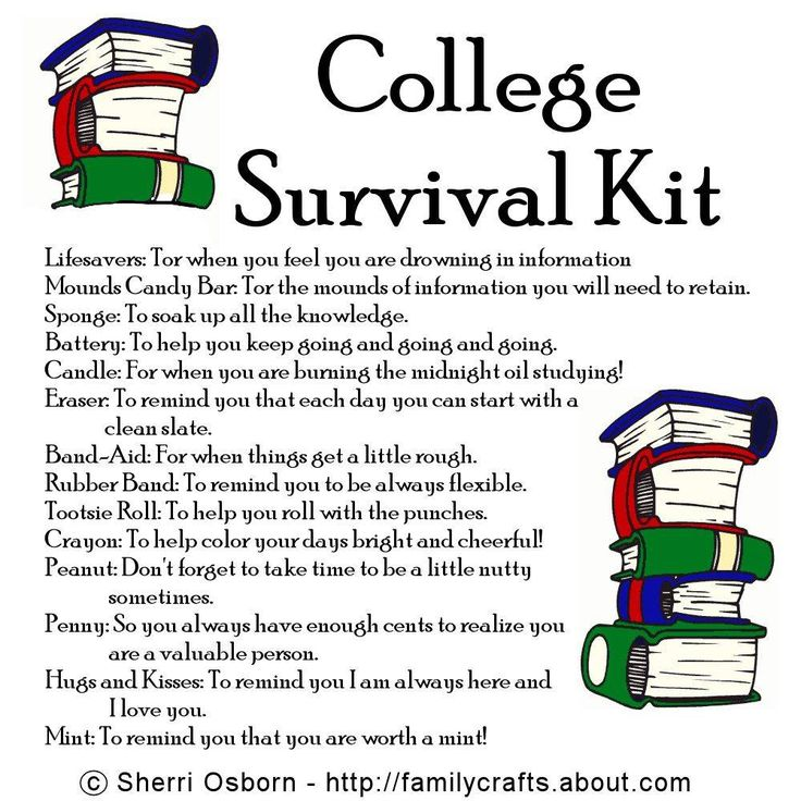 college survival kit for guys - Google Search totes sending this to my brother!